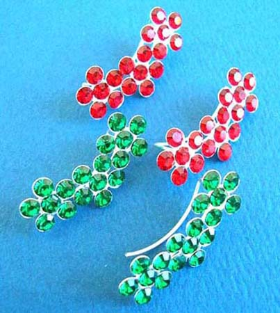 sterling silver thread earring in assortment of designs/colorss