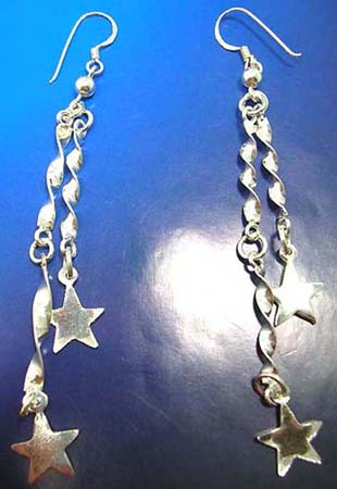 sterling silver earrings with stars