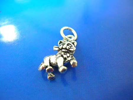elegant kitty design sterling silver 925 thailand made pendant