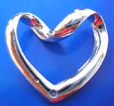 heart love sterling silver epndant with curve top