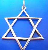 The peace symbol, double triangle sterling silver 925 Thailand made pendant