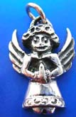 Holy angel figure Thai silver pendant sterling 925