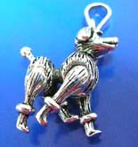Little dog Thai silver pendant sterling 925 with head, legs and tail movable
